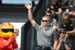 Ed Carpenter waves to the crowd -- Photo by: Jim Haines
