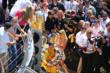 Ryan Hunter-Reay celebrates in Victory Lane -- Photo by: Bret Kelley