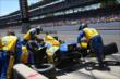 Marco Andretti during a pit stop -- Photo by: Chris Jones