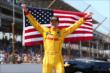 Ryan Hunter-Reay celebrates his Victory -- Photo by: Chris Jones