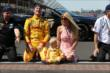 Ryan Hunter-Reay and his family on the yard of bricks -- Photo by: Chris Jones