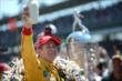 Ryan Hunter-Reay celebrates his victory at IMS -- Photo by: Chris Owens