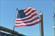 The American Flag at IMS -- Photo by: Chris Owens