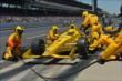 Helio Castroneves makes a pit stop -- Photo by: Chris Owens