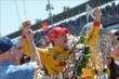 Ryan-Hunter Reay celebrates his win -- Photo by: Chris Owens