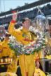 Ryan Hunter-Reay in Victory Circle -- Photo by: Chris Owens