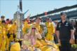 Ryan Hunter-Reay with his family and crew in Victory Circle -- Photo by: Chris Owens