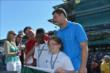 Andrew Luck and Mark Cuban at IMS -- Photo by: Dana Garrett
