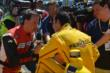 Helio Castroneves speaks with ESPN -- Photo by: Dana Garrett