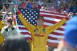 Ryan Hunter-Reay celebrates his victory -- Photo by: Dana Garrett