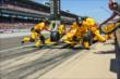 Ryan Hunter-Reay and his crew during a pit stop -- Photo by: Doug Mathews