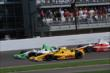 Ryan Hunter-Reay beside Carlos Munoz -- Photo by: Eric McCombs