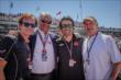 Dario Franchitti, Parnelli Jones, Arie Luyendyk and Mark Miles at IMS -- Photo by: Forrest Mellott