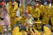Ryan Hunter-Reay celebrates after the Indianapolis 500 -- Photo by: John Cote