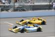 Marco Andretti and Ryan Hunter-Reay at IMS -- Photo by: Jim Haines