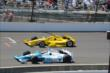 Helio Castroneves and James Hinchcliffe -- Photo by: Jim Haines
