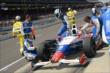 Ryan Briscoe exits his car -- Photo by: Jim Haines