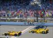 The finish between Hunter-Reay and Castroneves -- Photo by: Mike Harding