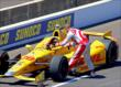 Tony Kanaan congratulates Ryan Hunter-Reay -- Photo by: Mike Harding
