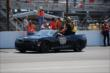 Ryan Hunter-Reay takes his victory lap at IMS -- Photo by: Mike Young