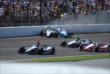Ed Carpenter and James Hinchcliffe wreck at IMS -- Photo by: Mike Young