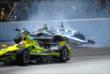 James Hinchcliffe and Ed Carpenter collision -- Photo by: Mike Young