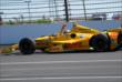 Ryan Hunter-Reay celebrates his win -- Photo by: Mike Young