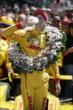 Ryan Hunter-Reay in Victory Circle after winning the 98th running of the Indianapolis 500 Mile Race -- Photo by: Shawn Gritzmacher