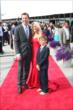 Kurt Busch and his family on the red carpet at the 2014 Indianapolis 500 Victory Banquet -- Photo by: Chris Jones