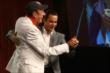 Helio Castroneves and Jim Nabors have a quick dance during the 2014 Indianapolis 500 Victory Banquet -- Photo by: Chris Jones