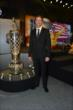 Ryan Hunter-Reay with the Borg-Warner Trophy during the 2014 Indianapolis 500 Victory Banquet -- Photo by: Chris Owens