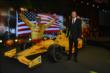 Ryan Hunter-Reay with his winning #28 DHL Honda Dallara during the 2014 Indianapolis 500 Victory Banquet -- Photo by: Chris Owens