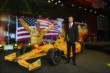 Ryan Hunter-Reay with his winning Car #28 DHL Honda Dallara during the 2014 Indianapolis 500 Victory Banquet -- Photo by: Chris Owens