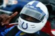 Wide Receiver Reggie Wayne is ready to enter the Indianapolis Colts Training Camp in the IndyCar Two-Seater -- Photo by: Brian Simpson