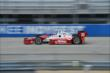 Tony Kanaan heads down the front stretch during practice for the ABC Supply Wisconsin 250 at the Milwaukee Mile -- Photo by: Chris Owens