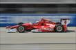 Scott Dixon heads down the front stretch during practice for the ABC Supply Wisconsin 250 at the Milwaukee Mile -- Photo by: Chris Owens