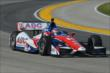 Takuma Sato exits Turn 4 during practice for the ABC Supply Wisconsin 250 at the Milwaukee Mile -- Photo by: Chris Owens