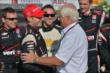 Will Power is congratulated by Roger Penske after winning the ABC Supply Wisconsin 250 at the Milwaukee Mile -- Photo by: Chris Owens