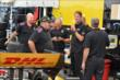 Ryan Hunter-Reay chats with his Andretti Autosport team in the Milwaukee paddock -- Photo by: Chris Owens