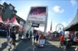 Fans enter the INDYCAR Fan Village at Sonoma Raceway -- Photo by: Chris Owens