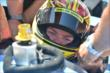 Sarah Fisher returns to the cockpit in the INDYCAR two-seater at Auto Club Speedway -- Photo by: Chris Owens