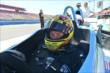 Sarah Fisher is primed and ready to give a two-seater ride at Auto Club Speedway -- Photo by: Chris Owens