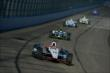 Will Power leads a group into Turn 3 during the Open Test at Auto Club Speedway -- Photo by: Chris Owens
