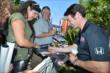 Simon Pagenaud signs autographs at the meet-and-greet at The Grove LA -- Photo by: Chris Owens