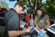 Will Power signs autographs during the meet-and-greet at The Grove LA -- Photo by: Chris Owens
