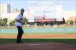 Max Chilton Throwing First Pitch at Indianapolis Indians - Friday, May 12, 2017
