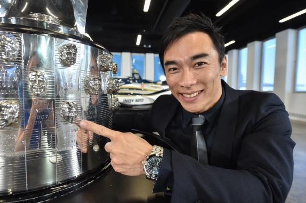 Takuma Sato Likeness Unveiled on the Borg-Warner Trophy - Friday, February 19, 2020