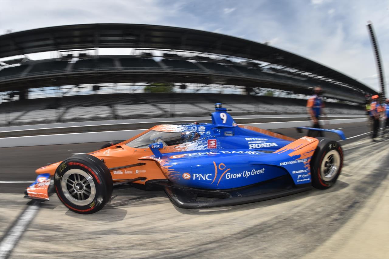 Tão logo foi à pista, o piloto da Chip Ganassi estabeleceu a volta mais rápida do fim de semana (Chris Owens/IndyCar)