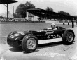 Al Herman after qualifying for the 1956 Indianapolis 500 in the #12 Bardahl Special (KK500B/Offy). -- Photo by: No Photographer