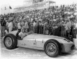 Eddie Russo in the #55 Sclavi & Amos Special (KK500C/Offy) after qualifying for the 1957 Indianapolis 500. -- Photo by: No Photographer